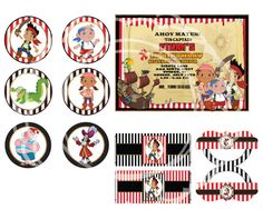 Jake and the Neverland Pirates party kit jake by blueangeldigitals