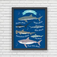 Nautical Home Decor Nautical Nursery Wall Art by LucyDarlingPrints