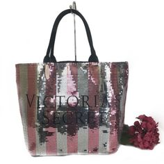 Ltd Edt Victoria'S Secret Sequin Tote Bag