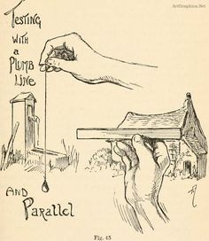 drawing with a plumbline, measuring with a pencil, beginner guide to drawing