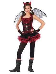 girls red devil night wing tween costume wholesale tween halloween costume for girls - Popular Tween Halloween Costumes