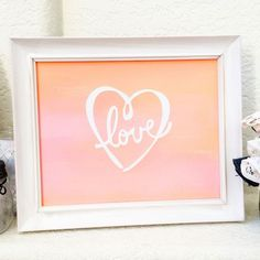Learn how to make pretty ombre word art. Love cut design by Jen Goode.