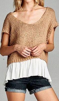 Becky Layered Knit http://sassyposh.com/products/becky-layered-knit