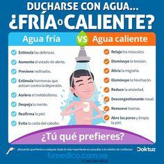 Descubre los beneficios de ducharte con agua fría o caliente