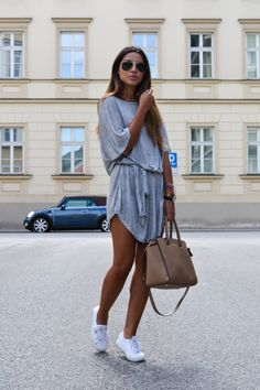grey dress   http://lifeandcity.tumblr.com   #grey #dress #style