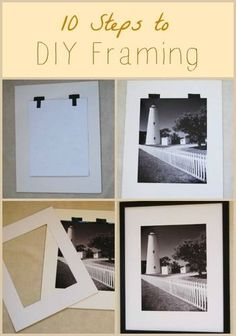 Tips for DIY framing         Professional framing can cost an arm and a leg; however, it's important to prese...