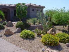 Easy Desert Landscaping Tips That Will Help You Design A Beautiful Yard High Desert Landscaping, Desert Backyard, Landscaping With Rocks, Landscaping Plants, Front Yard Landscaping, Landscaping Ideas, Backyard Ideas, Landscape Materials, Landscape Designs