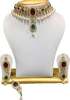 Designer Gold Plated Red Green Stone Kundan Indian Bollyw... https://www.amazon.ca/dp/B01N6G1E65/ref=cm_sw_r_pi_dp_x_yYSQybRY22214