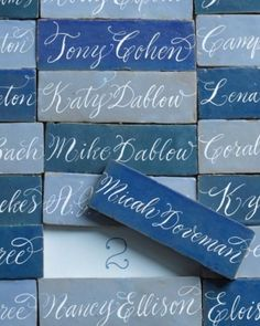 Wedding Escort Card - Mosaic Tile Escort Cards  #2032874