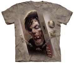 Zombie-at-the-Door-Adult-Fantasy-Unisex-T-Shirt-The-Mountain