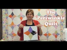 Make a Periwinkle Quilt with the Wacky Web Template! - good tip from video: If you have one side that is a tiny bit longer than the other, put the longer side down on the feed dogs and it will help ease it into place and match up!
