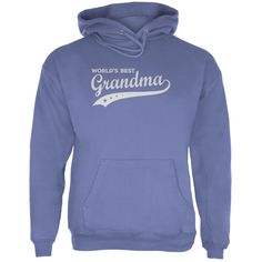 Mother's Day - World's Best Grandma Adult Blue Hoodie | OldGlory.com