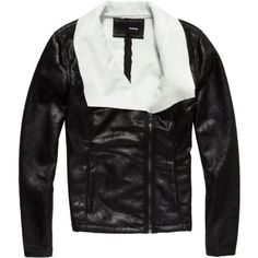 Hurley - Womens Serenade Jacket, Size: Medium, Color: Black Pockets: 2 front. Material: polyester faux leather, [lining] shearling. Fit: regular. Recommended Use: casual wear. High Point Shoulder Length: (size small) 24.5 in.