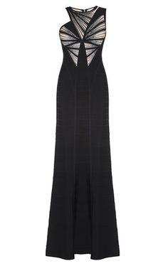 Halle Leather Sequin Sunburst Beaded Dress $3090