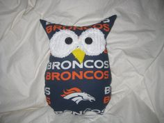 Hooters Stuffed Owl Pillow Bronco featuring NFL team by sweetpitas, $14.00