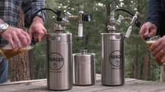 Brewery fresh craft beer right from your refrigerator!