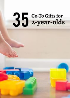 "Best Toys for 2 year olds- super engaging toys that are my ""go-to"" gifts for two year olds come Christmas or birthdays... FANTASTIC list that's part of a HUGE collection of gift guides for ages 0 - 12 complete with lots of descriptions and age recommendations!"
