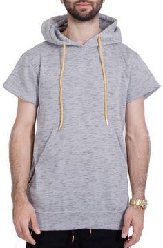 Men's Marled Pull Over Hoodie in Gray – Rag & Needle