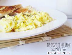 The SECRET to fool proof light fluffy scrambled eggs