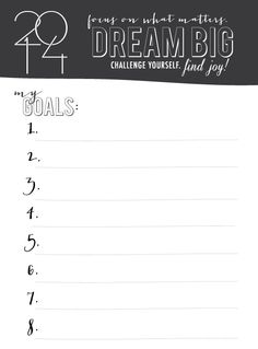 FREE Goal Printable, New Year's Resolutions, Goal Setting, 2014 via @Honey Bee Invites