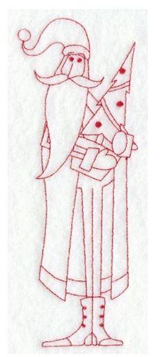 Christmas skinny Santa embroidery