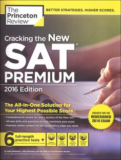 Cracking the New SAT w/ 6 Practice Tests 2016   Main photo (Cover)