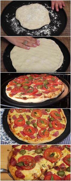 Pra quê comprar pizza se existe essa receita M-A-R-A-V-I-L-H-O-S-A e SUPER BARATINHA? Só leva 2 ingredientes… Amooooo! #pizza #pizzabaratinha #comida #culinaria #gastromina #receita #receitas #receitafacil #chef #receitasfaceis #receitasrapidas