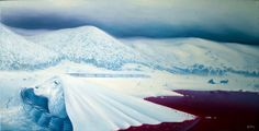AFAN Alessandro Fantini - Engram (2017) The ice is sweeter than Life. Oil on canvas, 60x35 cm.