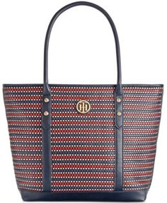 TOMMY HILFIGER Tommy Hilfiger Hadley Woven Large Tote. #tommyhilfiger #bags #leather #hand bags #tote #