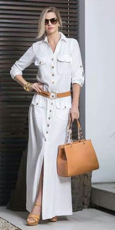 Fashion shirt dresses - Patterns and molds – Outfit Fashion - Best Fashion, Outfits & Trends Ideas Hijab Fashion, Fashion Dresses, Fashion Clothes, Shirt Dress Pattern, Beauty And Fashion, Style Fashion, Mode Hijab, Casual Chic, Mantel
