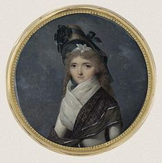 Young lady in Directoire costume, 1790s