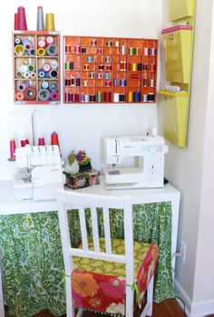 love the idea of sewing table to hide the cords