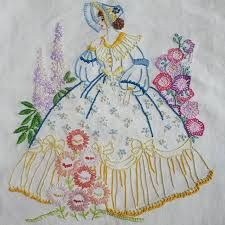 Modern Embroidery, Crewel Embroidery, Vintage Embroidery, Ribbon Embroidery, Embroidery Patterns, Embroidery Transfers, Point Lace, Diy And Crafts, Cross Stitch