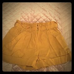 BCBG yellow shorts BCBG yellow shorts BCBGMaxAzria Shorts