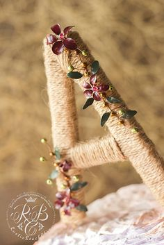 Rustic Wedding Cake Topper Barn Wedding Decor Rustic Letter
