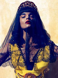 I love Vogue Japan. I love Crystal Renn. I love tulle and red lips and trasparent fabric. #Vogue Japan | Crystal Renn