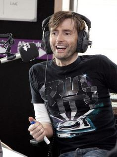 Just geeked out about this picture... David Tennant wearing an OWL CITY shirt. My two favorite people.
