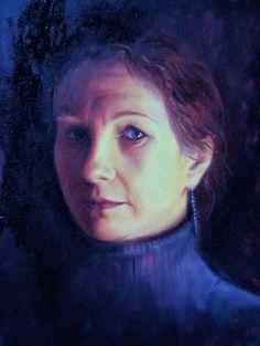 Scottish artist Pheona Kerr - Self Portrait 2008