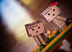 Cute Amazon Box Robot   Tagged Danbo Box Robot