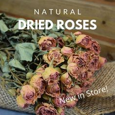 *** NEW FLOWERS IN OUR STORE *** We're busy over here adding new products that we know you'll LOVE, like these beautiful dried rose bouquets.  These sweet little roses are naturally dried and will keep their beauty and color in your arrangements.  Place them in a french country pitcher for an easy display, or add other dried flowers to make a stunning bouquet. ⁣ ⁣ #driedflowers #driedplants #flowerlovers #homedecor #driedflowerdesign