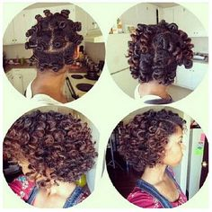 Springy Bantu knot set