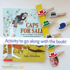 """A fun and educational preschool activity to go along with the book """"Caps for Sale""""!"""
