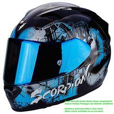 0357ca8d0 awesome Scorpion Helm Motorrad exo-1200 Air Tenebris Black/Sky Blue, XS Exo