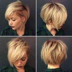 Short pixie blonde hair