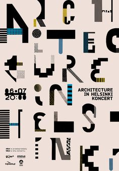 Architecture in Helsinki, poster designed by Aleksandra Niepsuj (2011)  –  Type Only  Unit Editions