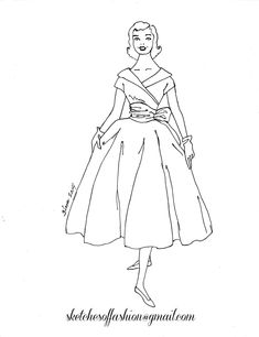 fashion design a fashion sketch colouring pagesfashion design coloring pages