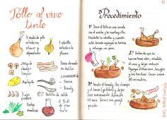 Pollo al vino tinto con champiñones y beicon - Gastroandalusi  https://www.pinterest.com/source/gastroandalusi.com/