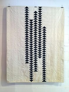 "'Migration' quilt. Machine pieced; machine quilted; 56"" x 70""; Seattle Modern Quilt Guild Exhibition Submission. (2012)"