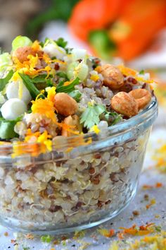 Honey Cilantro Quinoa Salad {gluten free} from The Healthy Apple