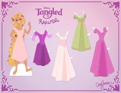 Rapunzel Party Activities: Paper Dolls! « Recession Home